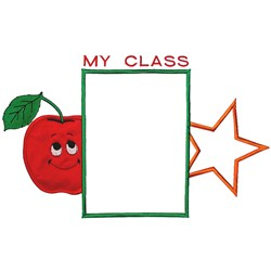 My Class Frame embroidery design
