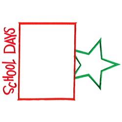 School Days Frame embroidery design