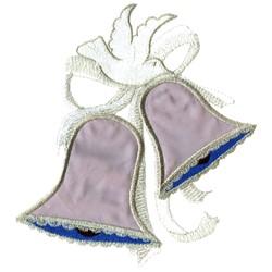 Applique Wedding Bells embroidery design