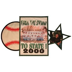 Baseball Frame embroidery design