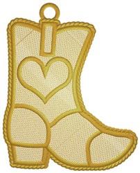Boot Ornament embroidery design