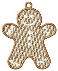 Gingerbread Boy Ornament embroidery design