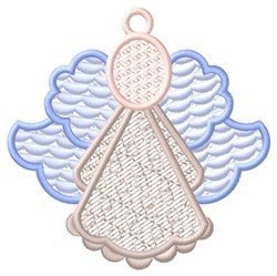 Blue Angel Ornament embroidery design