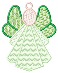Green Angel Ornament embroidery design