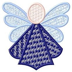 Purple Angel embroidery design