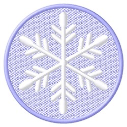 Snowflake Circle embroidery design