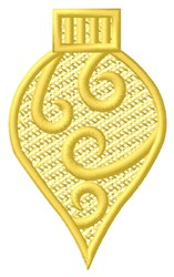 Yellow Swirly Ornament embroidery design