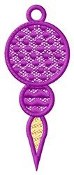 Purple Hanging Ornament embroidery design
