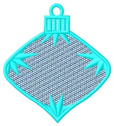 Blue Hanging Ornament embroidery design