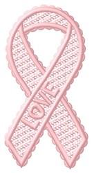 FSL Love Ribbon embroidery design