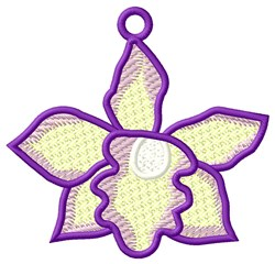 FSL Purple Orchid Ornament embroidery design