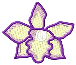 FSL Purple Orchid embroidery design