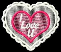 FSL I Love U embroidery design