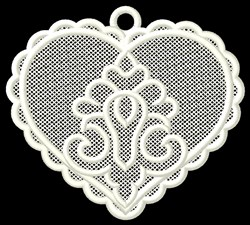 FSL Heart Ornament embroidery design