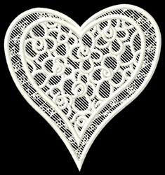 FSL Floral Heart embroidery design