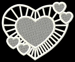 FSL Heart with Hearts embroidery design