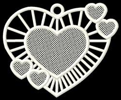 FSL Hearts Ornament embroidery design
