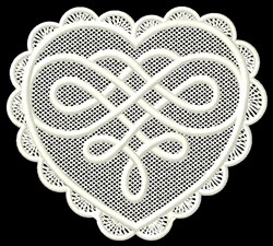 FSL Heart Knot embroidery design