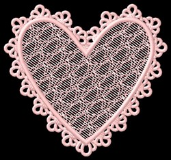 FSL Lacy Heart embroidery design