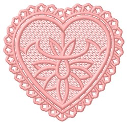 FSL Heart with Flower embroidery design