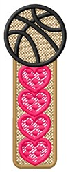Basketball Hearts embroidery design
