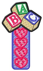 ABC Block Hearts embroidery design