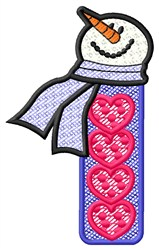 Snowman Hearts embroidery design