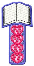 Book Hearts embroidery design