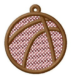 Basketball Ornament embroidery design