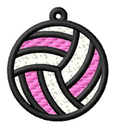 Volleyball Ornament embroidery design