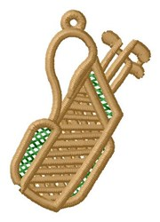 Golf Bag Ornament embroidery design