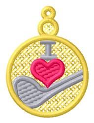Golf Club Ornament embroidery design