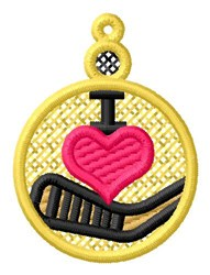 Hockey Ornament embroidery design