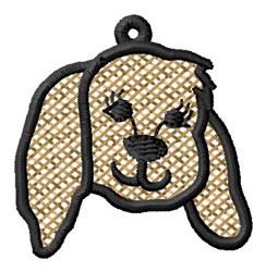 Puppy Head Ornament embroidery design
