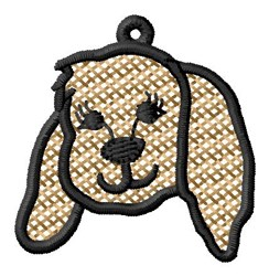Puppy Head Ornament embroidery design