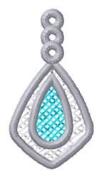 Teardrop Ornament embroidery design