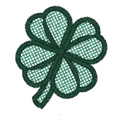 Free Standing Lace Shamrock embroidery design
