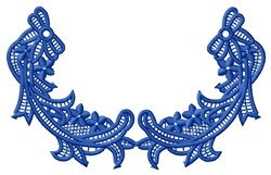 Blue Lace Flowers embroidery design