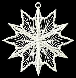 Snow Flake Ornament embroidery design