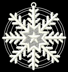 Round Snowflake embroidery design