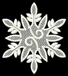 Swirl Snowflake embroidery design