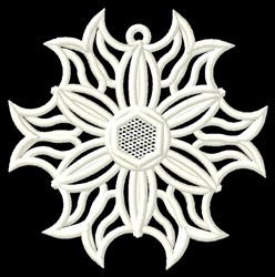 Snowflake Floral embroidery design