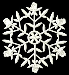Flower Snowflake embroidery design
