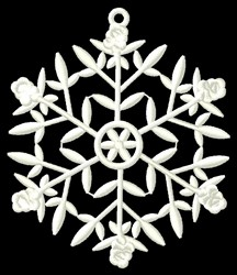 Snowflake Flowers embroidery design