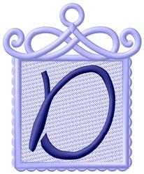 Framed Purple Font D embroidery design