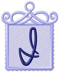 Framed Purple Font I embroidery design