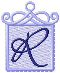 Framed Purple Font R embroidery design