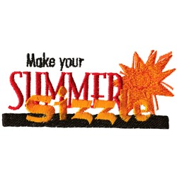 Summer Sizzle embroidery design