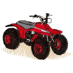 Four Wheeler embroidery design