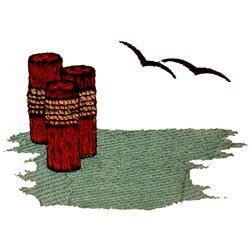 Water Scene embroidery design